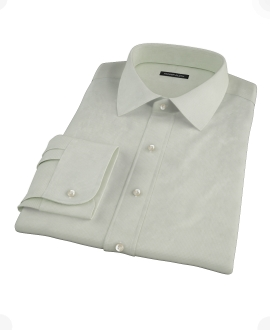 Soft Green Basketweave Dress Shirt