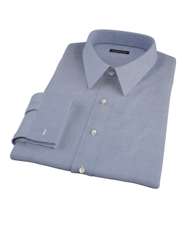 Blue 100s Oxford Fitted Dress Shirt