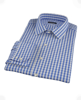 Classic Blue Gingham Custom Dress Shirt