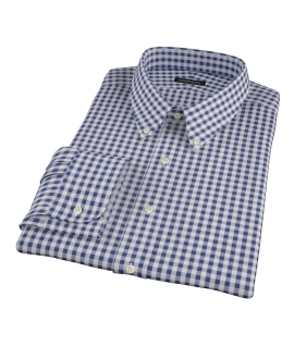 Navy Gingham Men's Dress Shirt