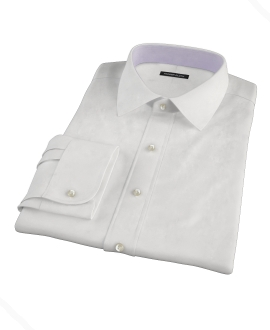 Bowery White Wrinkle-Resistant Pinpoint Custom Dress Shirt