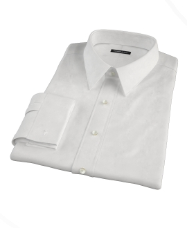 Canclini White Broadcloth Dress Shirt
