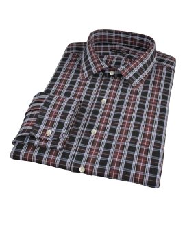 Whistler Maroon Plaid Men's Dress Shirt