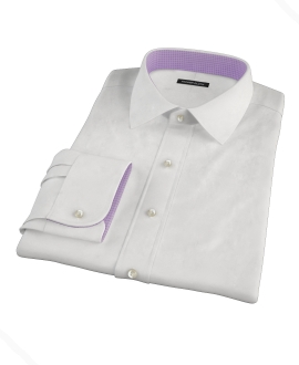 White Pinpoint Fitted Shirt
