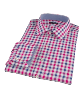 Red and Navy Multi Gingham Dress Shirt