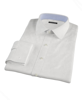 Thomas Mason White 120s Pinpoint Fitted Shirt