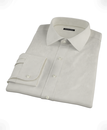 Ivory Pinpoint Men's Dress Shirt
