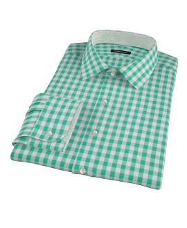 Green Large Gingham Tailor Made Shirt