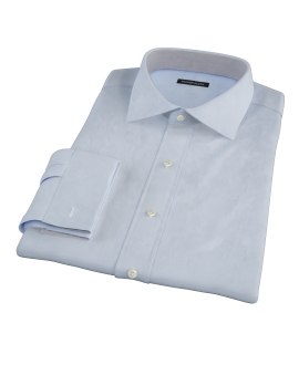Light Blue 100s Oxford Fitted Dress Shirt