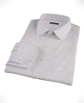 Japanese Lavender Mini Grid Fitted Dress Shirt