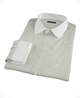 Soft Green Basketweave Tailor Made Shirt