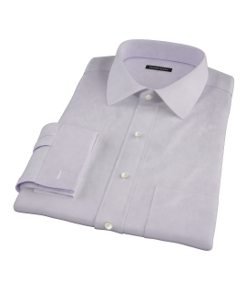 Thomas Mason Lavender Twill Custom Dress Shirt