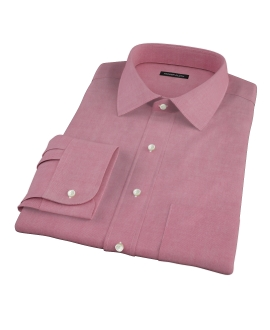 Red Chambray Men's Dress Shirt