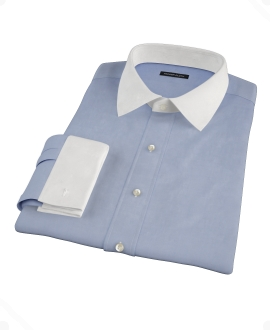 Blue Cavalry Twill Dress Shirt