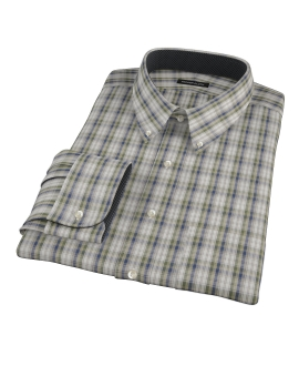 Green and Blue Plaid Custom Made Shirt