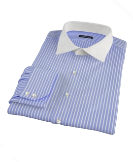 Blue Reverse Bengal Stripe Fitted Shirt