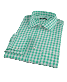 Green Large Gingham Custom Dress Shirt
