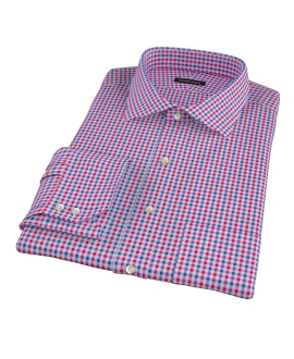 Red and Blue Small Gingham Dress Shirt