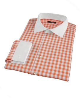 Orange Large Gingham Dress Shirt