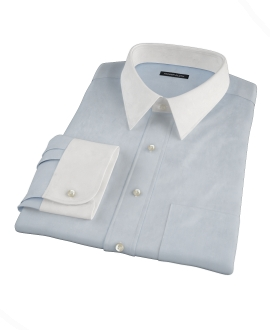 Canclini Light Blue 120s Broadcloth Dress Shirt