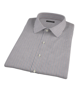 Navy and Red Pinstripe Short Sleeve Shirt