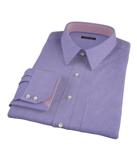 Canclini Blue and Red Stripe Custom Made Shirt
