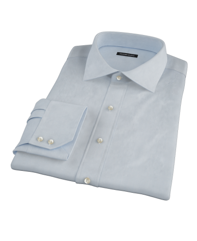 Blue Broadcloth Fitted Dress Shirt