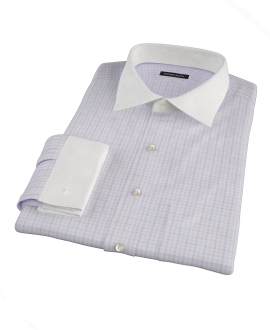 Pink and Blue Gingham Oxford Custom Made Shirt