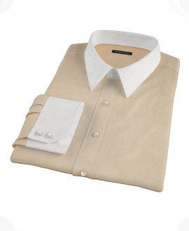 Orange End-on-End Dress Shirt