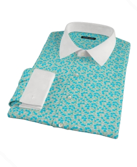 Canclini Flower Print Men's Dress Shirt