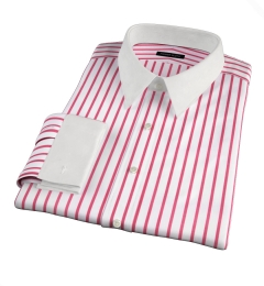 Canclini Red Wide Stripe Men's Dress Shirt