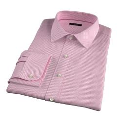 Thomas Mason Red Small Grid Dress Shirt