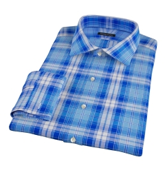 Canclini Appenine Plaid Fitted Dress Shirt