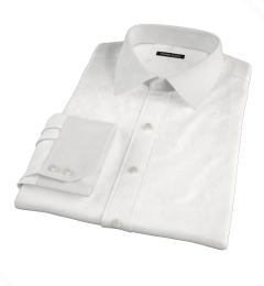 Thomas Mason White Fine Twill Fitted Shirt