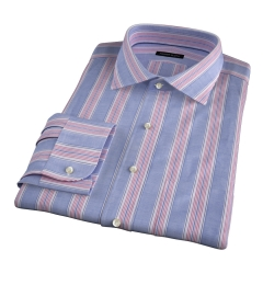 Albini Santa Fe Stripe Fitted Dress Shirt