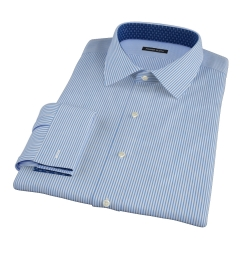 Thomas Mason Luxury Blue Stripe Fitted Shirt