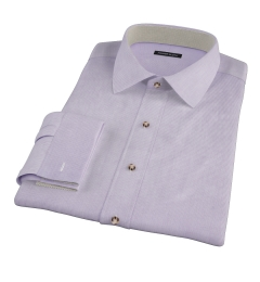 Carmine Lavender Mini Grid Fitted Shirt