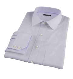 Lavender 100s Twill Custom Made Shirt