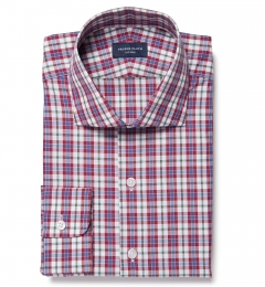 Siena Red and Green Multi Check Custom Made Shirt