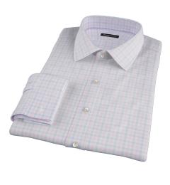 Thomas Mason Pink Multi Check Fitted Shirt