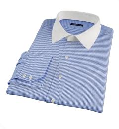 Vestry Blue Mini Gingham Dress Shirt