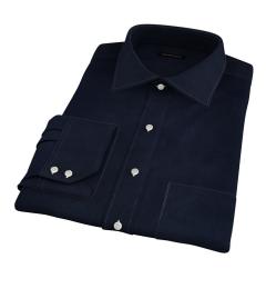 Canclini Black Casual Diamond Jacquard Men's Dress Shirt