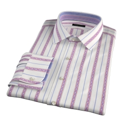 Albini Red Folk Stripe Tailor Made Shirt