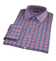 Sullivan Orange Melange Check Tailor Made Shirt