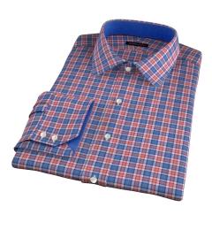 Sullivan Orange Melange Check Dress Shirt