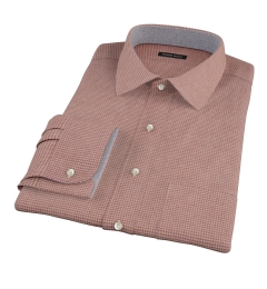 Canclini Brown Houndstooth Flannel Custom Dress Shirt