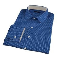Blue Japanese Flower Print Custom Made Shirt