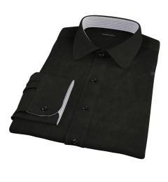 Black Broadcloth Dress Shirt