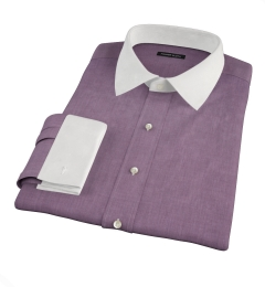Eggplant End on End Men's Dress Shirt