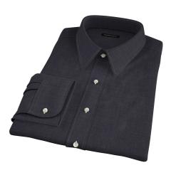 Albiate Grey Crosshatch Melange Fitted Shirt